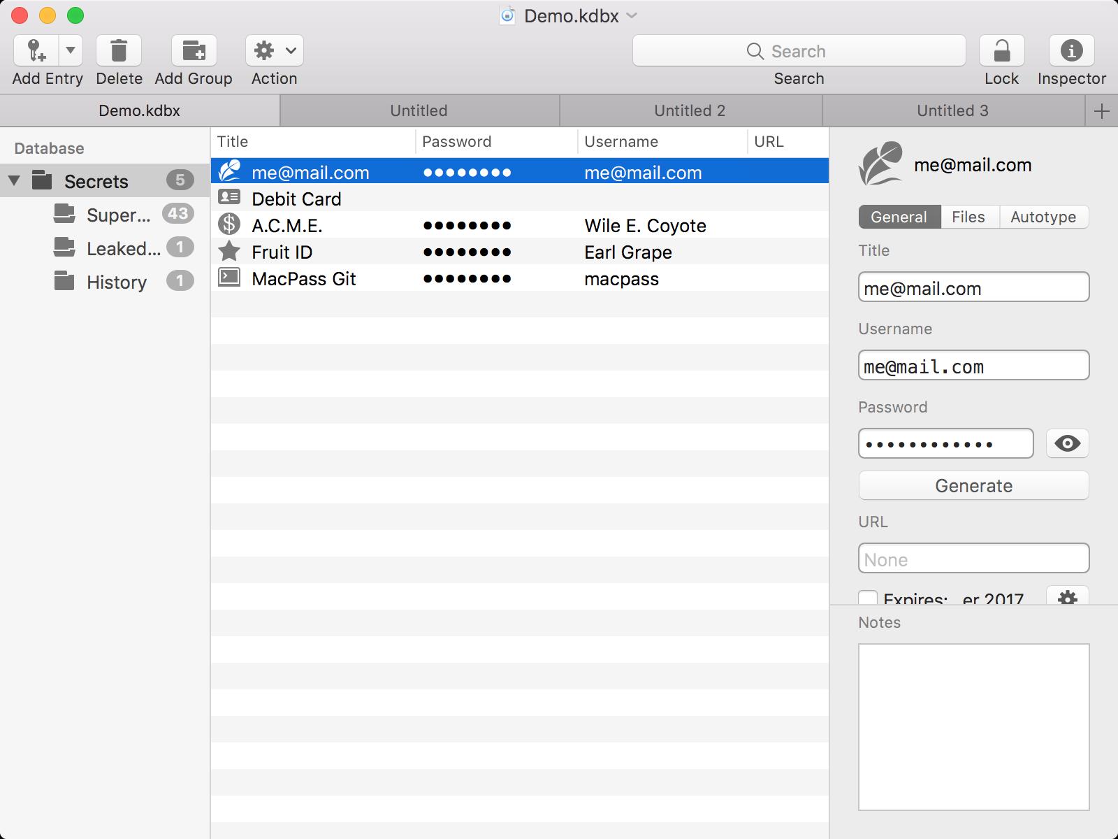 So sieht MacPass aus